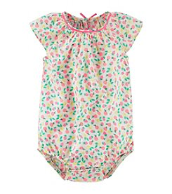 OshKosh B'Gosh® Baby Girls' Fruit Print Woven Bodysuit
