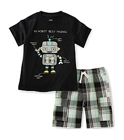 Kids Headquarters® Baby Boys 2-Piece Robot Tee And Shorts Set