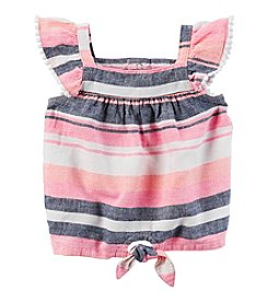 Carter's® Baby Girls' Striped Linen Top