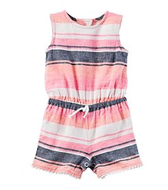 Carter's® Baby Girls' Striped Linen Romper
