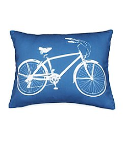 Bicycle Printed Decorative Pillow