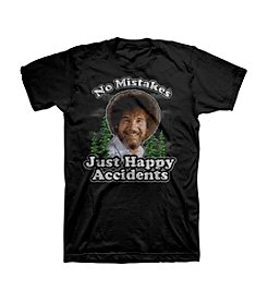Men's Bob Ross Just Happy Accidents Graphic Tee