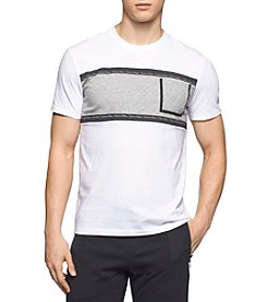 Calvin Klein Men's Color Blocked Pocket Graphic Logo Tee