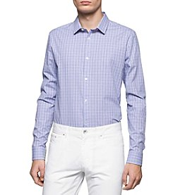 Calvin Klein Men's Long Sleeve Small Checkered Button Down