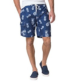 Chaps Men's Big & Tall Pineapple Printed Board Shorts