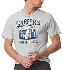 Chaps® Men's Big & Tall Cotton Jersey Surfer's Fish Taco Graphic Tee