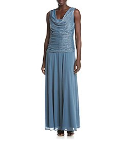 R&M Richards® Petites' Shimmering Ruched Top Dress