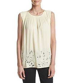 Penelope Rose™ Pleated Cut Out Accent Tank