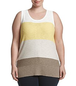 Jones New York ® Plus Size Colorblocked Shell