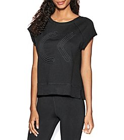 Calvin Klein Performance Icon Corded Logo Crop Sweatshirt
