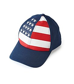 Collection 18 Blue Sparkle Flag Baseball Cap