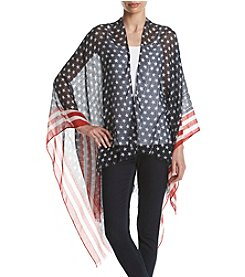 Collection 18 Blue Stars and Stripes Ruana Cape