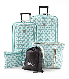 TravelQuarters Mint Circles Luggage Set