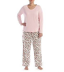 Intimate Essentials® Plus Size Print V-Neck Pajama Set