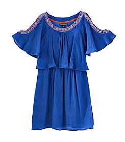 Sequin Hearts® Girls' Cold Shoulder Gauze Dress