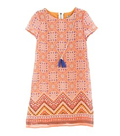 Rare Editions® Girls' 7-16 Border Print Dress
