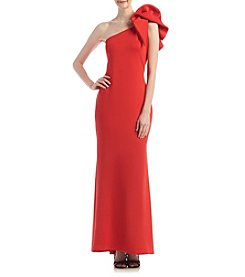 Betsy & Adam® Bow Shoulder Gown