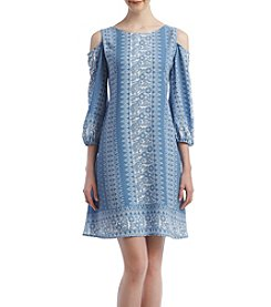 Luxology Cold-Shoulder Shift Dress