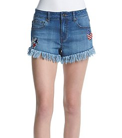 Celebrity Pink Americana Patch Shorts