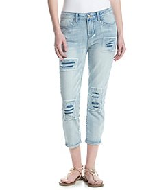 Hippie Laundry Destructed Patch Crop Jeans