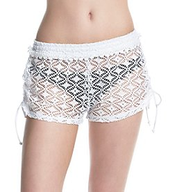 Miken® Cinch Side Crochet Shorts