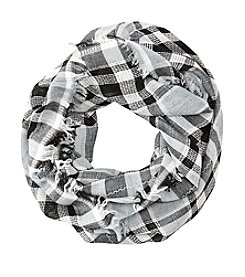 Basha Lurex Plaid Eternity Scarf