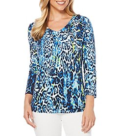 Rafaella® Wildcat Print Top