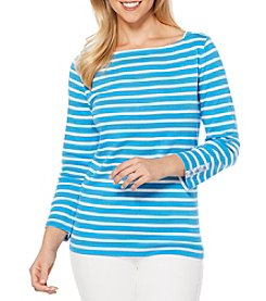 Rafaella® Striped Boatneck Top