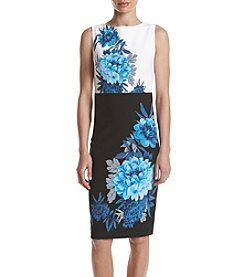 Gabby Skye® Color Blocked Floral Print Dress