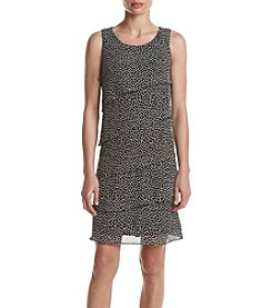 Jessica Howard® Tiered Dot Printed Shift Dress