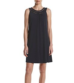 Jessica Howard® Crochet Neckline Shift Dress