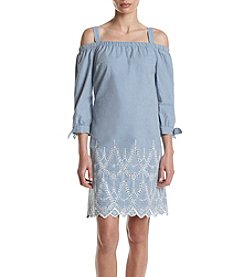 Jessica Howard® Embrodiered Off Shoulder Dress