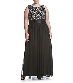 Jessica Howard® Plus Size Lace Top Dress