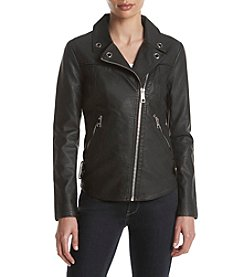 GUESS Stretch Faux Leather Jacket