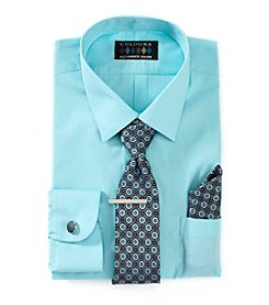 Alexander Julian® Men's 5-Piece Stretch Dress Shirt And Tie Set