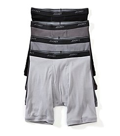Jockey Men's Staycool+ 3-Pack +1 Bonus Midway Boxer Briefs