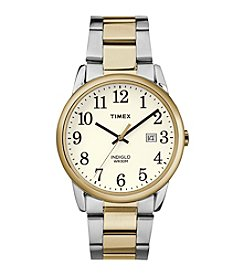 Timex® Men's Easy Reader Two-Tone Stainless Steel Strap Watch