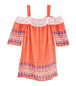 Sequin Hearts® Girls' 7-16 Cold Shoulder Dress