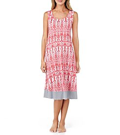 Ellen Tracy® Midi Print Nightgown