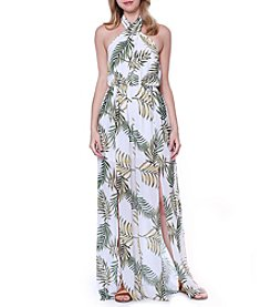 Skylar & Jade™ Palm Printed Jumpsuit