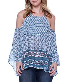 Skylar & Jade™ Cold Shoulder Peasant Top