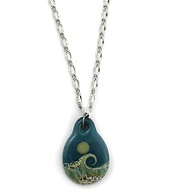 Aspiring Artists of the Earth Beaches Glass Focal Necklace
