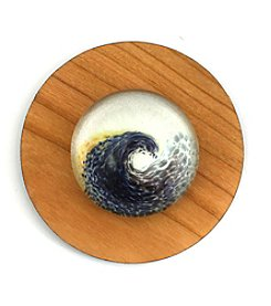 Aspiring Artists of the Earth Glass Wave Paperweight