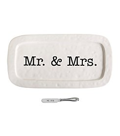 Mud Pie® Mr. & Mrs. Hostess Tray Set