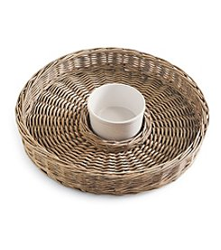Mud Pie® Willow Basket Chip 'n Dip Set
