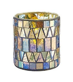 Order Home Collection® Glass Mosaic Candle Filled LED Hurricane
