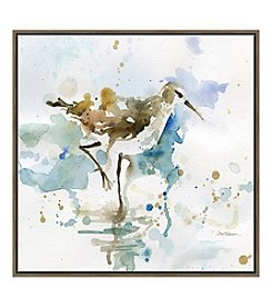 Artissimo Designs Malibu Sandpiper Canvas Wall Art