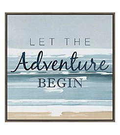 Artissimo Designs Let Adventure Begin Canvas Wall Art