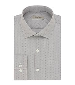 REACTION Kenneth Cole Men's Print Spread Slim Fit Dress Shirt