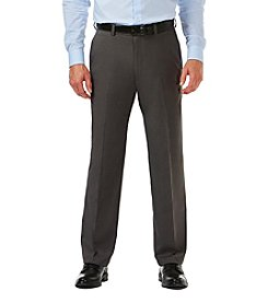 Haggar Cool 18 Pro Heather Stretch Classic Fit Flat Front Pant